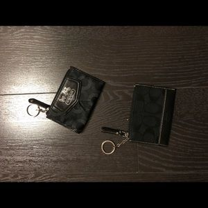 Two used Coach Coin purse